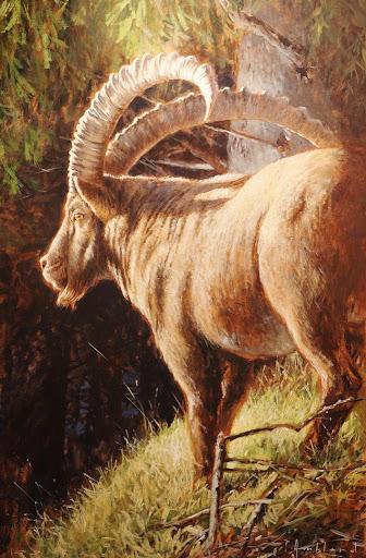 Le Guetteur. oil on canvas, 60x81cm