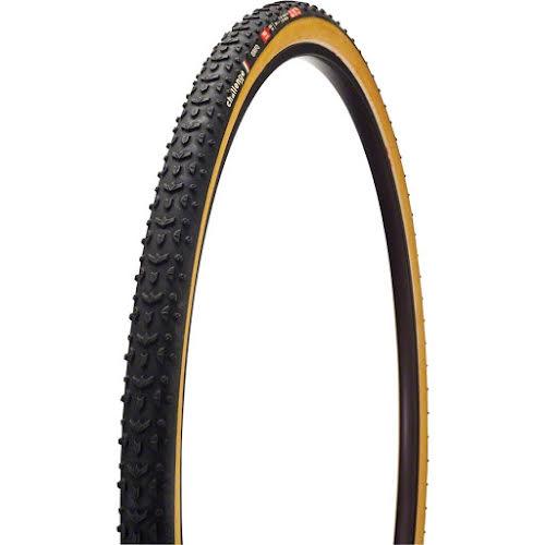 Challenge Grifo Pro Cross Tire: Tubular, 700 x 33, 300tpi, Black/Tan