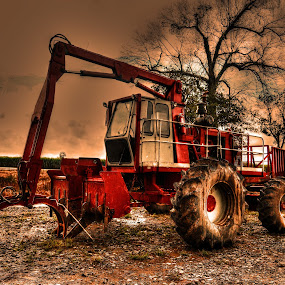 Sugarcane Loader by Ron Olivier - Digital Art Things ( sugarcane loader, louisiana,  )