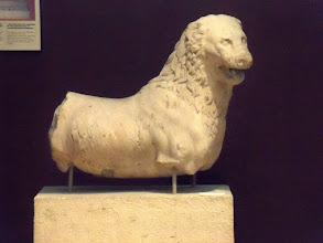 Photo: Marble Lion from the Mausoleum of Halicarnassos, mid 4th century BC