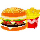 Food Color by Number - Pixel Number Draw Coloring icon