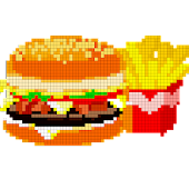 Food Color by Number - Pixel Number Draw Coloring