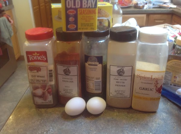 Preheat oven to 400 degrees F. Some of the ingredients used to season the...