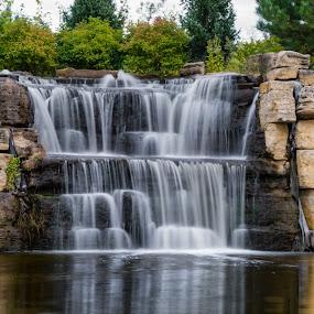 the ffalls by Matt Hollamon - Nature Up Close Water ( reflection, waterfall, manmade, long exposure, nikon,  )