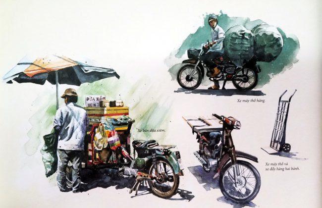Một chiếc xe bán dừa xiêm - hình ảnh quen thuộc ở Sài Gòn - Chợ Lớn