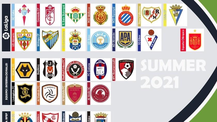 Los equipos que trabajan bajo la gestión del Marbella Football Center.