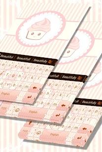 Sladké Cupcake Keyboard - náhled