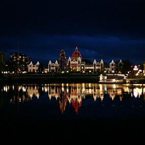 Vancouver Island, BC, Canada by Reinilda Sissons - City,  Street & Park  Night (  )
