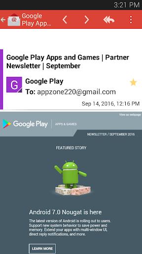 GmailのAppのメール