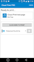 Screenshot of Cloud Print plus