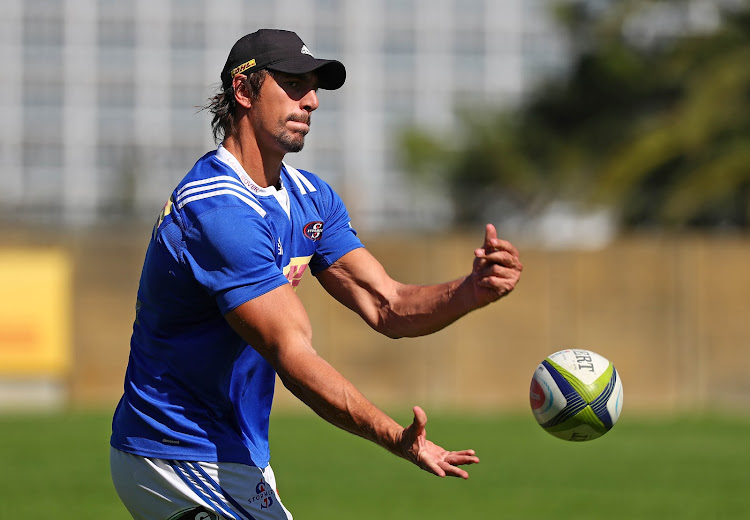 The DHL Stormers lock and Springboks captain Eben Etzebeth paricipates during the team's training session at Bellville HPC, Cape Town on Monday April 16 2018.