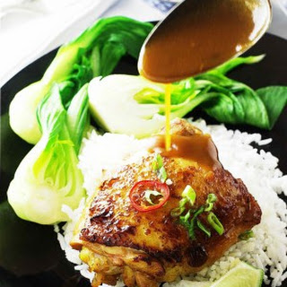 Ginger Chicken and Steamed Jasmine Rice