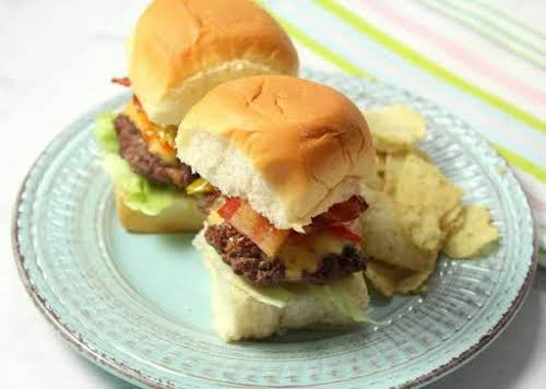 "Click Here for Recipe: Bacon Cheeseburger Sliders ""These were quick, simple and..."