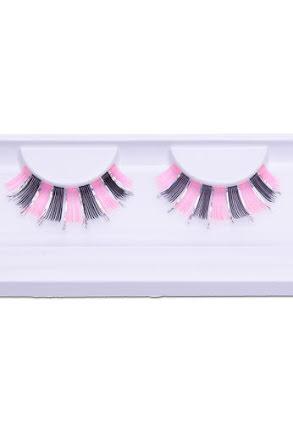 Lösögonfransar, fashion svart/rosa