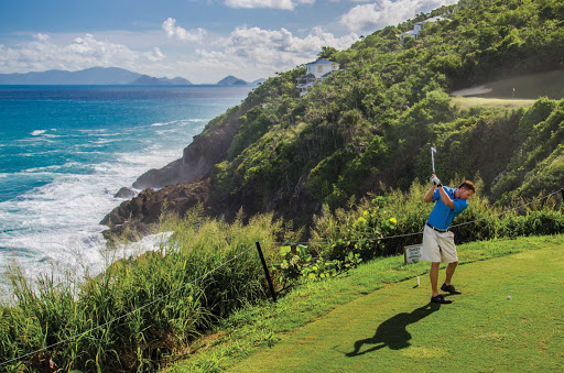 Grab a round of golf against the backdrop of the Caribbean on St. Thomas in the U.S. Virgin Islands.