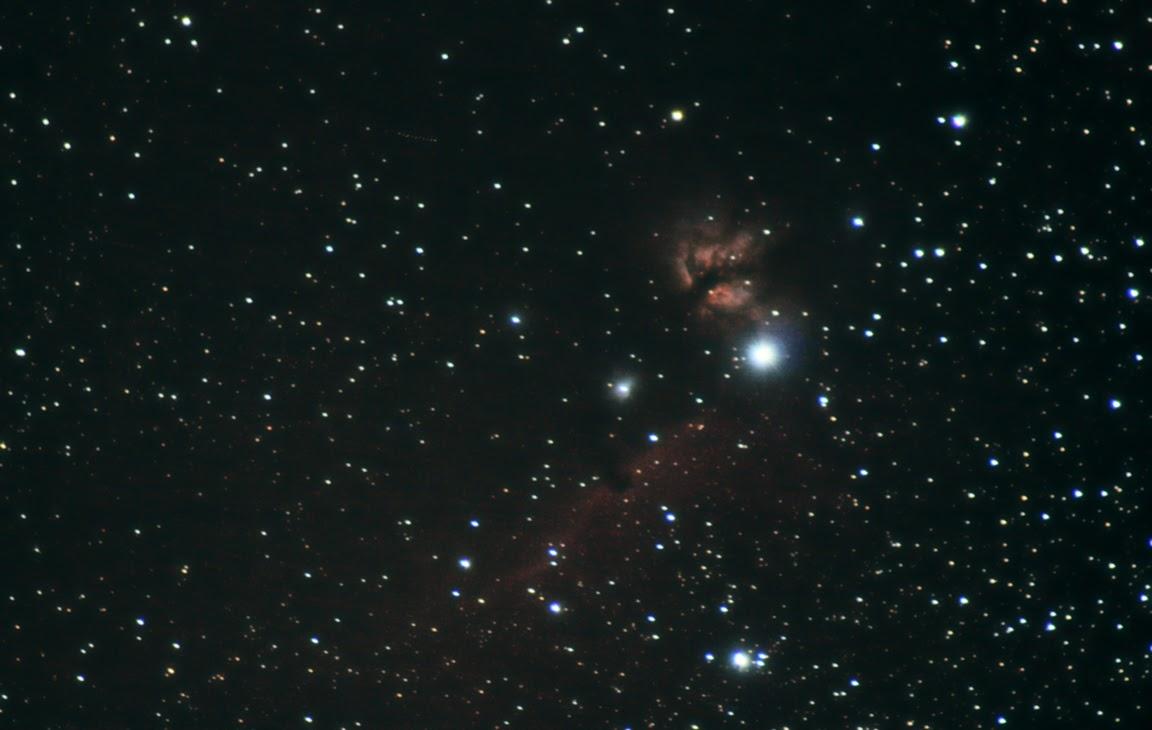 Flame and Horsehead Nebula