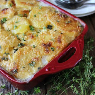 Dairy Free Herbed Scalloped Potatoes.