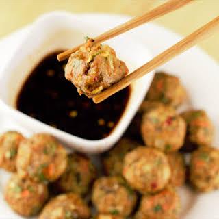 Asian Turkey Meatballs.