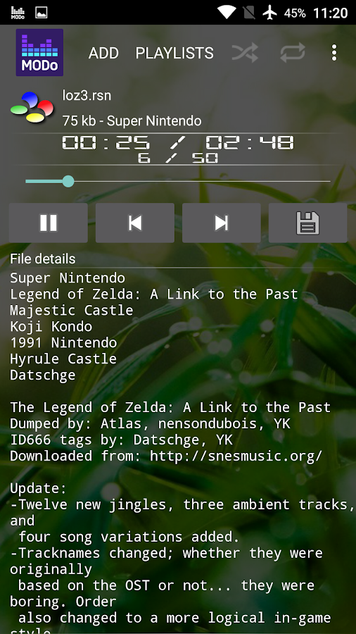 Modo - Computer Music Player- screenshot
