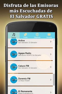 Emisoras de Radios El Salvador - screenshot