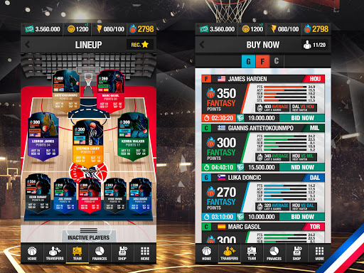 Basketball Fantasy Manager 2k20 ? NBA Live Game 6.00.050 screenshots 6