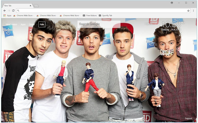 One Direction HD Wallpaper New Tab Themes