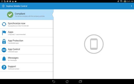 Sophos Samsung Plugin screenshot 2