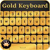 Gold Keyboard Themes: Golden Keypad with Emojis