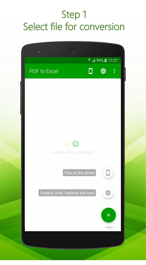 PDF to Excel- screenshot