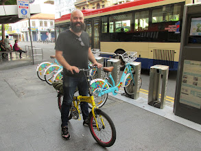 Photo: This guy (US IT guy) hired a competitors bike