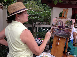 Photo: Painting plein air at the Society of the Four Arts 12-12-13