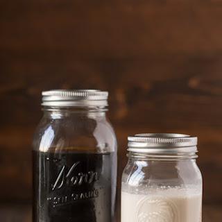 Cold Brew and Homemade Vanilla Coffee Creamer.