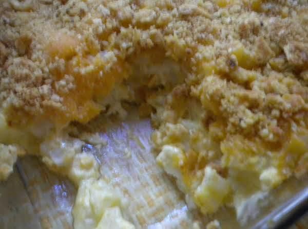 Crumb Topped Cheesy Potatoes