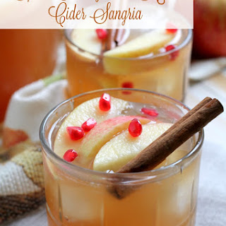 Spiced Pomegranate Apple Cider Sangria