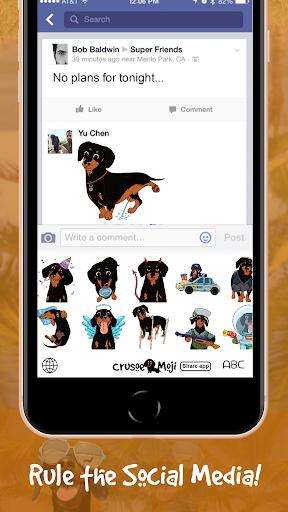 Download CrusoeMoji - Celebrity Dachshund Wiener Dog Emojis