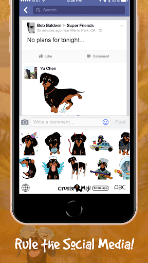 Download CrusoeMoji - Celebrity Dachshund Wiener Dog Emojis on PC