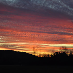 God's brushstrokes by Roger White Jr. - Novices Only Landscapes ( natural light, christian, colorful, sunset,  )