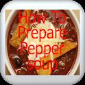 How to prepare pepper soup icon