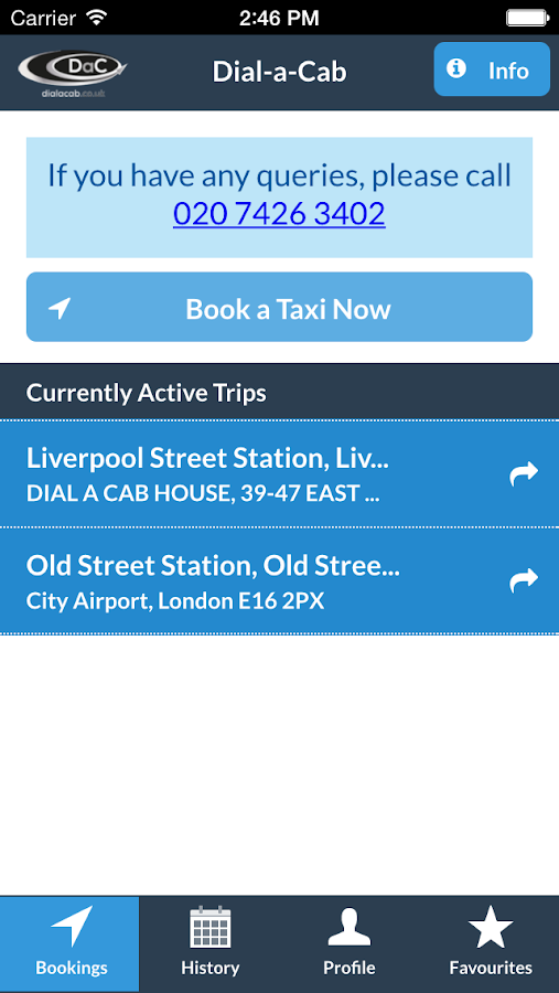 Dial-a-Cab- screenshot
