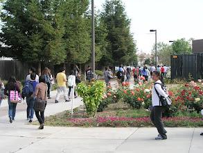 Photo: Students evacuating