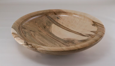 "Photo: Clif Poodry 11 1/2"" Cored bowl from May 2013 demo [ambrosia maple]"