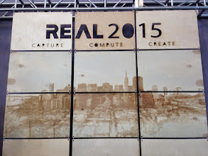 Photo: TechStage Background Panelsat #REAL2015 Main Hall