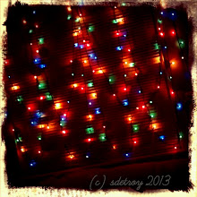Photo: Holiday Lights in my front window, glowing on and off in December 2013 and January 2014