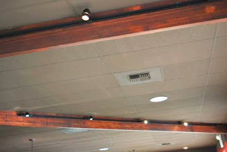 Photo: Spruce up your ceiling with Sing Honeycomb Beams. They have a strong, lightweight torsion box sandwich panel core, just like Sing Honeycomb Panels.