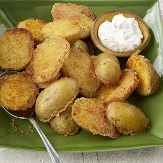 Crispy Parmesan Baked Potatoes.