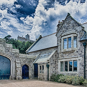 St Michaels Mount by Jim Keating - Buildings & Architecture Architectural Detail ( clouds, sky, hdr, stone, architecture,  )