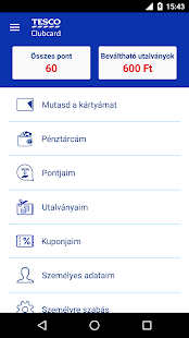 Tesco Clubcard Hungary- screenshot thumbnail