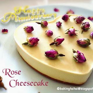 Non-Bake Rose Cheesecake Video Tutorial recipe 玫瑰免烤芝士蛋糕 (中英食谱视频教程)