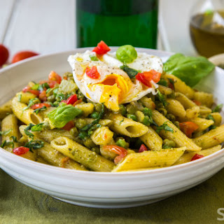 Penne With Pesto, Potatoes And Peas.