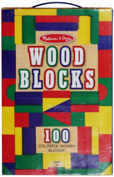 Melissa & Doug Wood Blocks Set - 100 Pieces